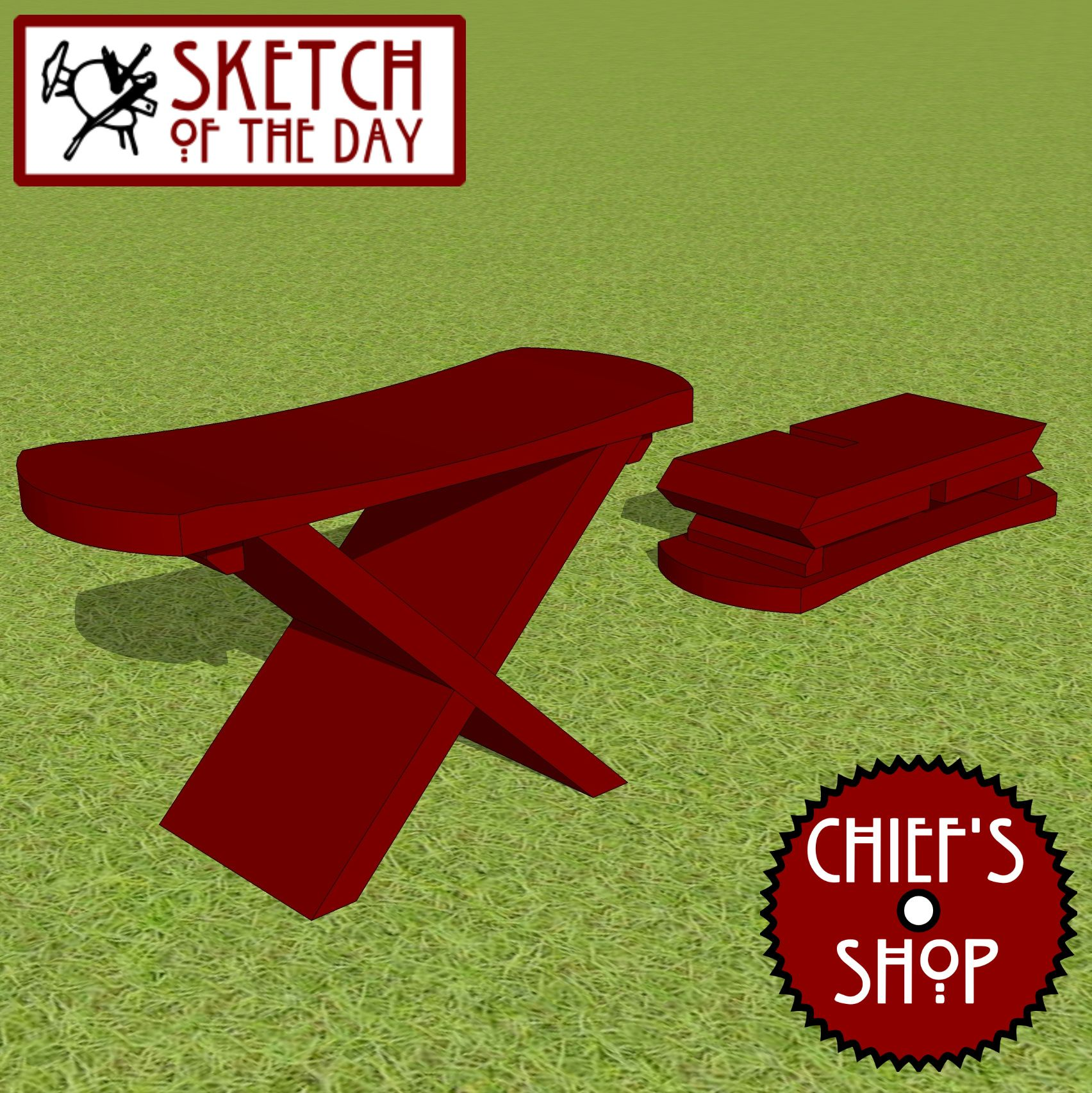 Pleasant Sketch Of The Day Knock Down Stool Woodworking Chiefsshop Bralicious Painted Fabric Chair Ideas Braliciousco