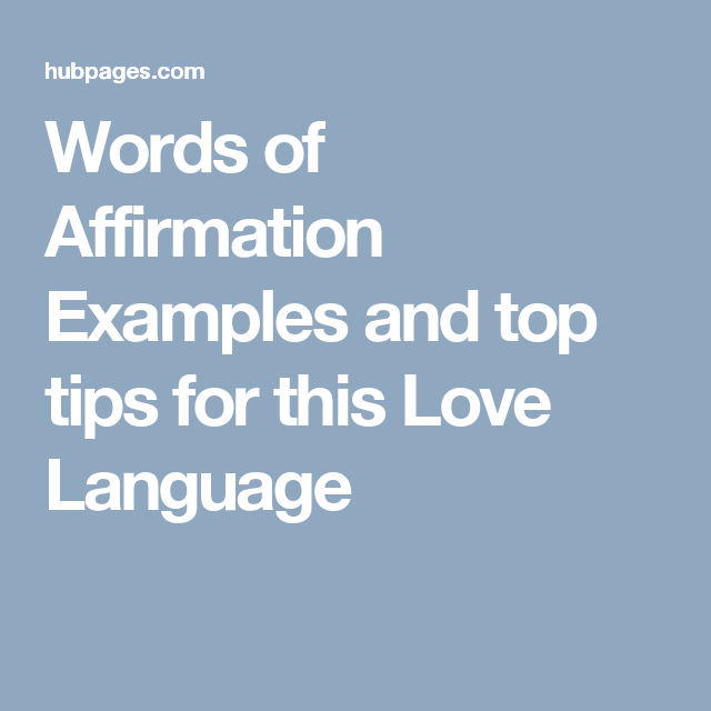 love language affirmation examples