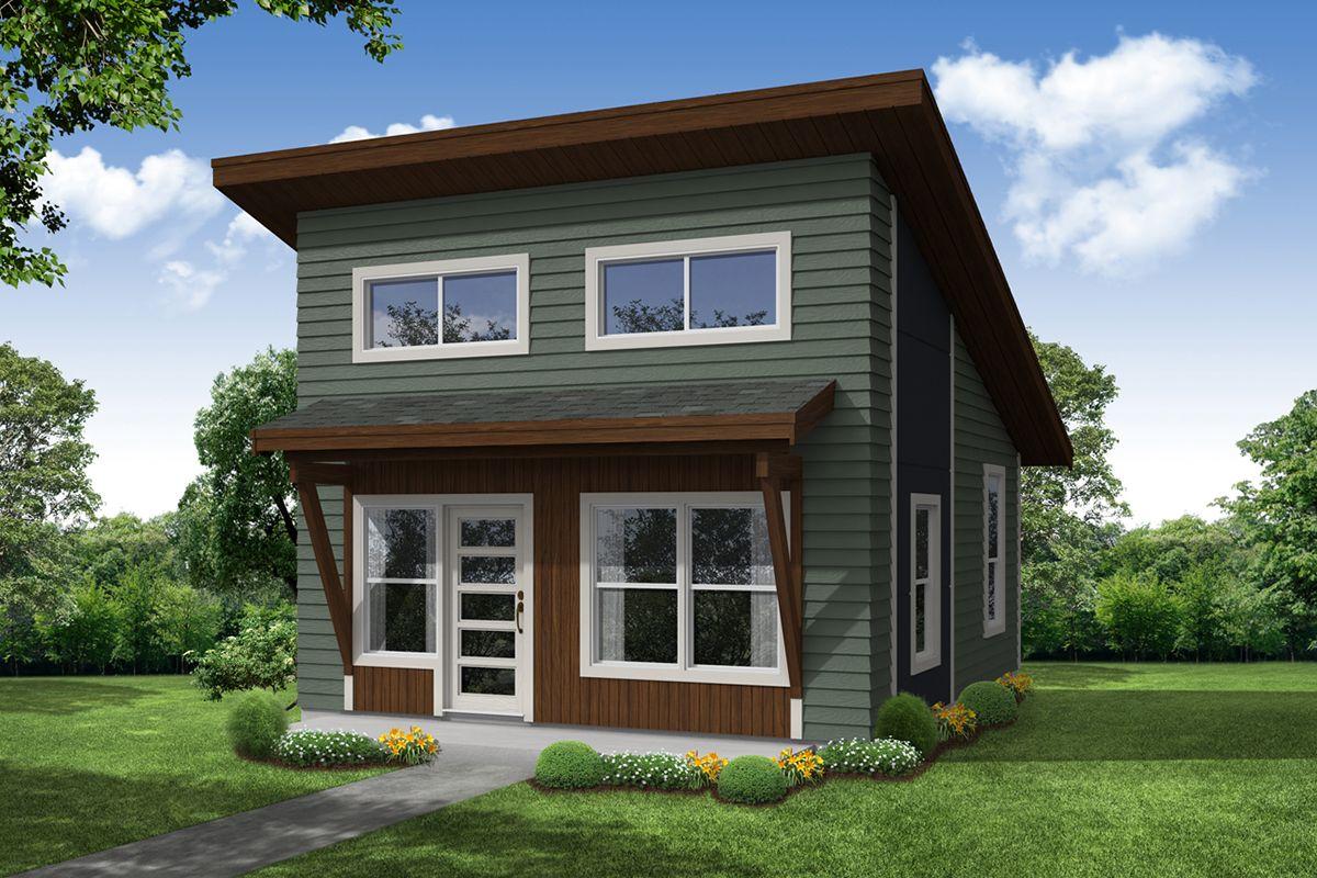 Plan 720002da One Bedroom Adu Or Guest Cabin Modern Style House Plans One Bedroom House Plans Cottage House Plans
