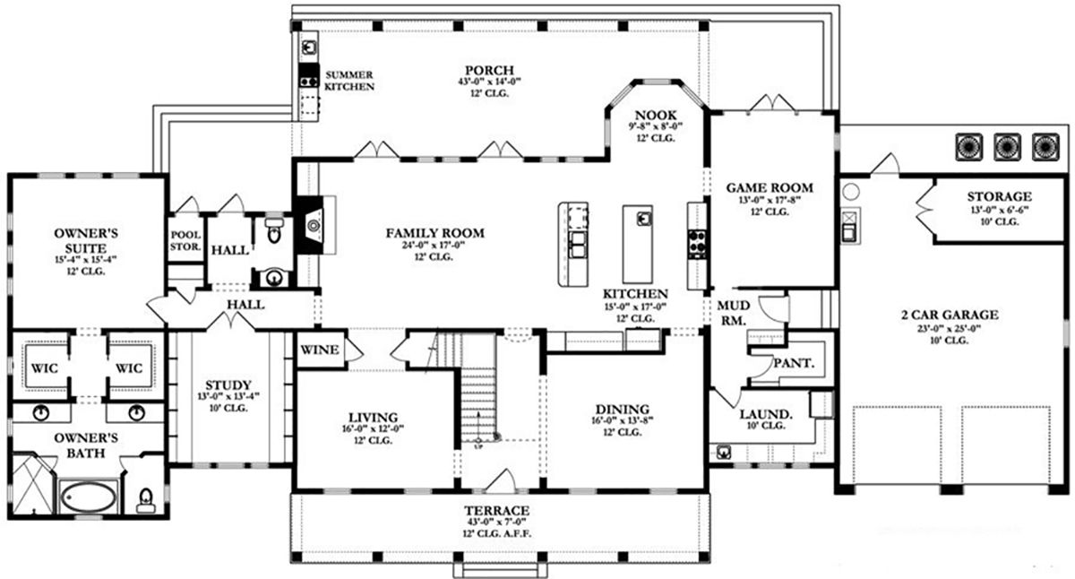 Country House Plan 3978