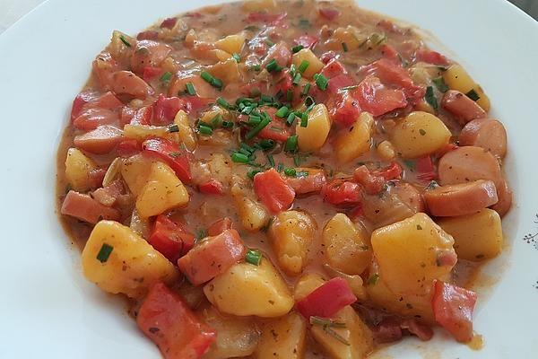 Kartoffelgulasch mit Wiener Würstchen #sausagedinner