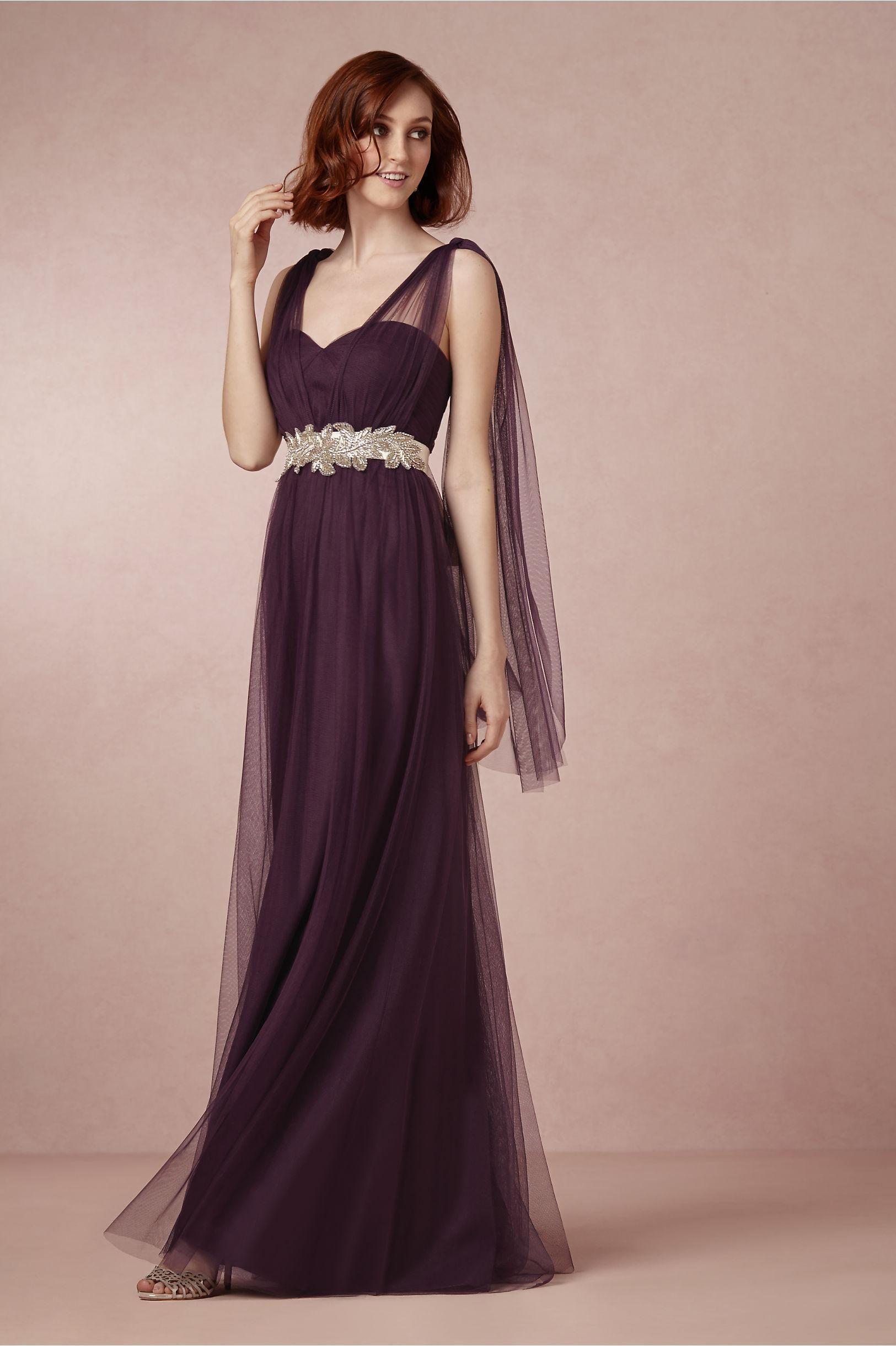 Annabelle dress in sugar plum from bhldn convertible bridesmaids plum purple tulle floor length bridesmaids dress annabelle dress from bhldn ombrellifo Images
