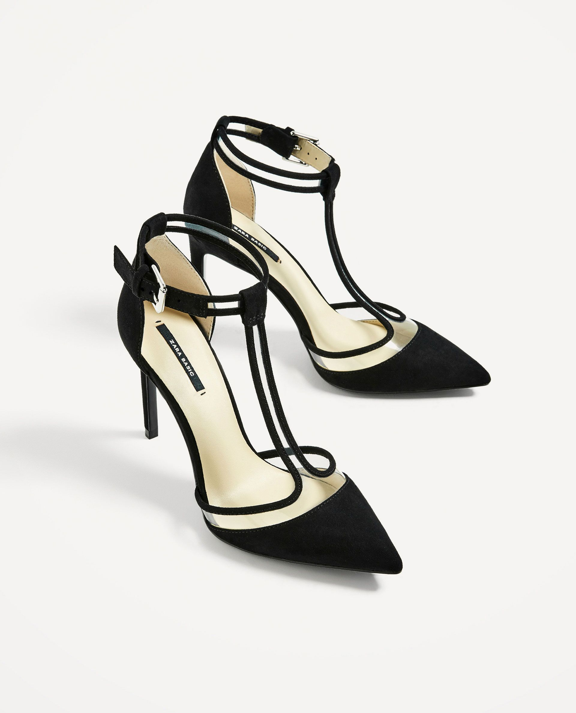 aad935f5fb6 Zara Vinyl Black Court Shoe