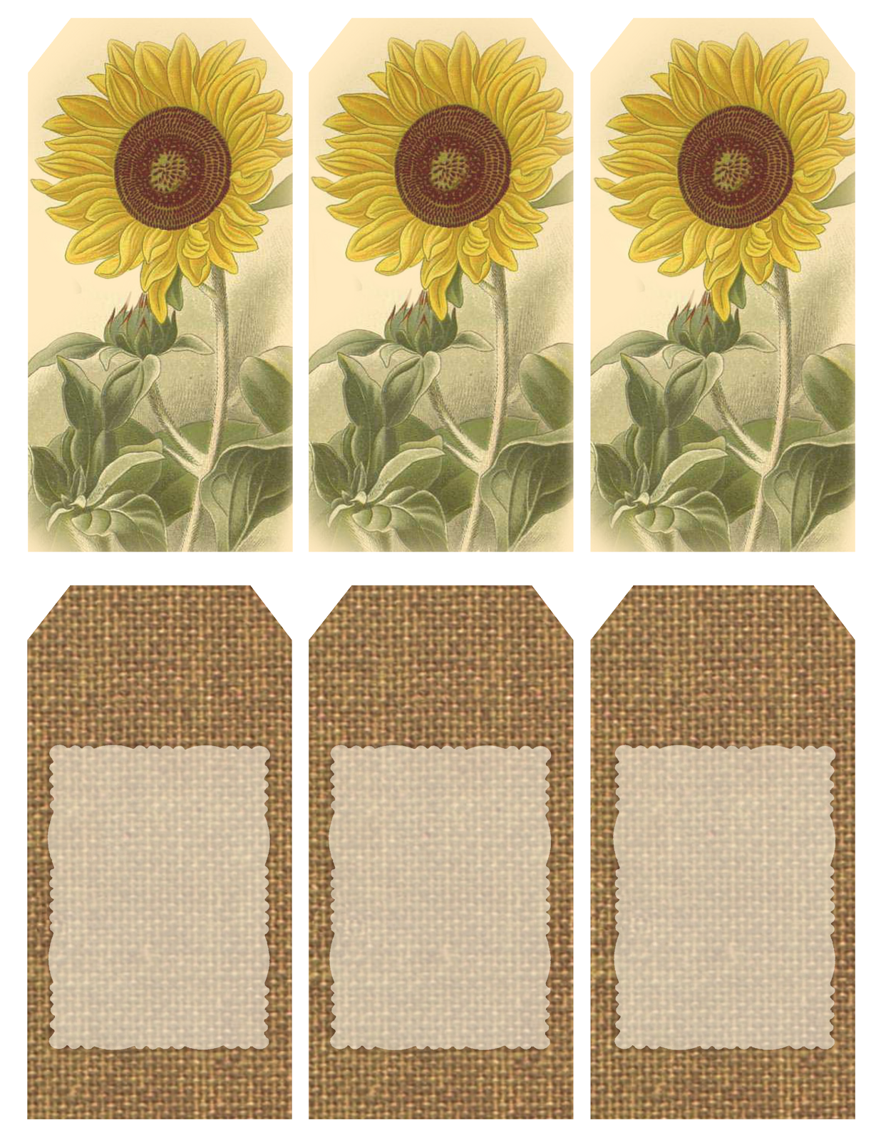 Those who bring sunshine printable sheet of 6 for Burlap flower template