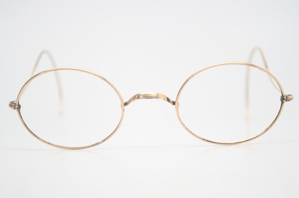 328cbe1206fa Antique Gold Wire rim Eyeglasses - Cable temple - Vintage eyeglasses  VintageOpticalShop.com SKU 943