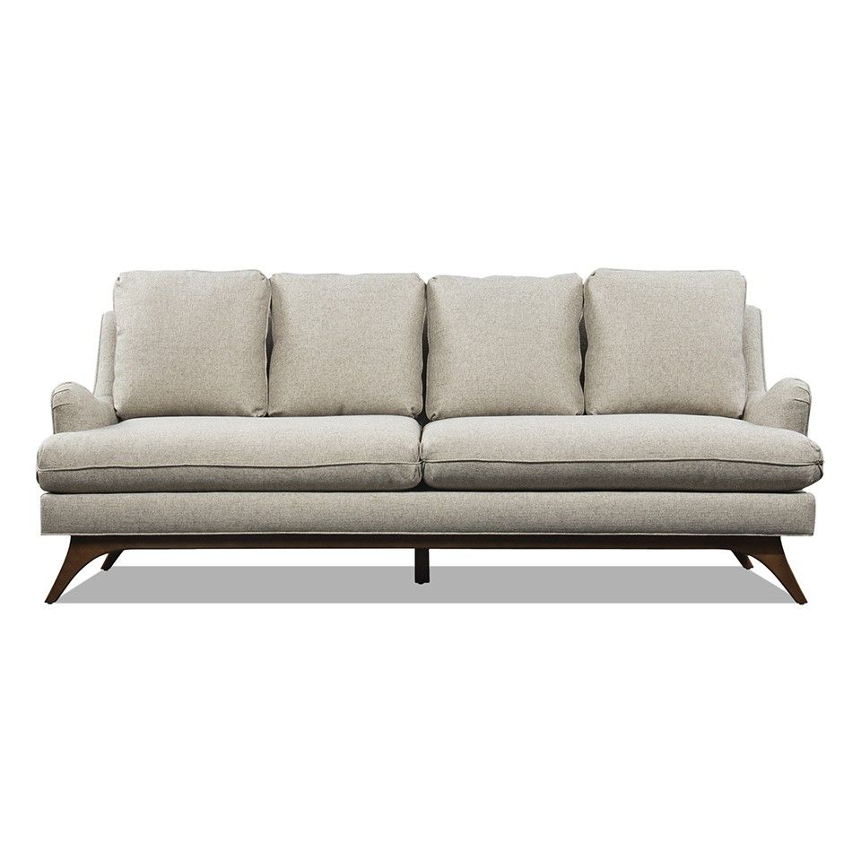 Bon LEWIS GREY FABRIC SOFA   Younger Furniture | HD Buttercup Online