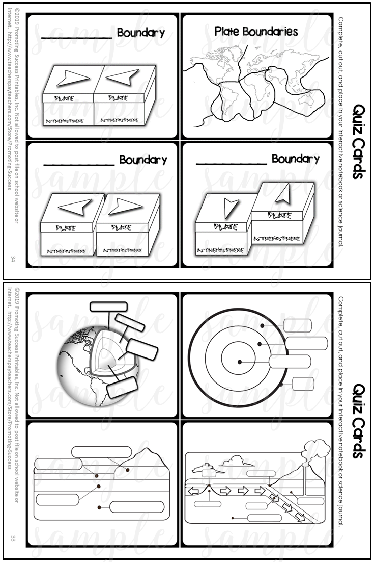 small resolution of Plate Tectonics Middle School Activity Worksheets for Teaching Kids 4th -  5th Grade   Plate tectonics middle school
