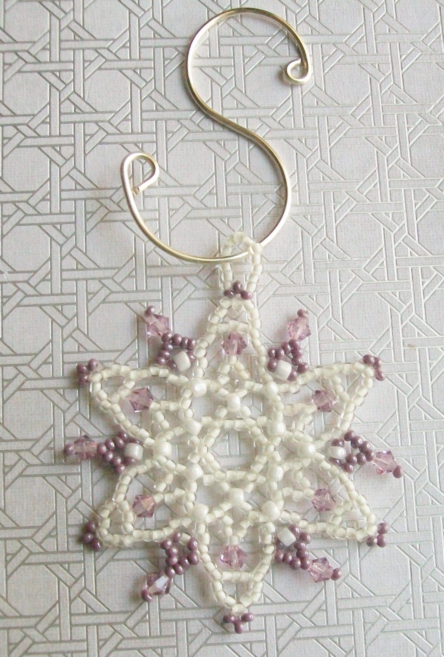 2-Inch Mini Snowflakes Makes 24 Ornaments Beadery Holiday Beaded Ornament Kit