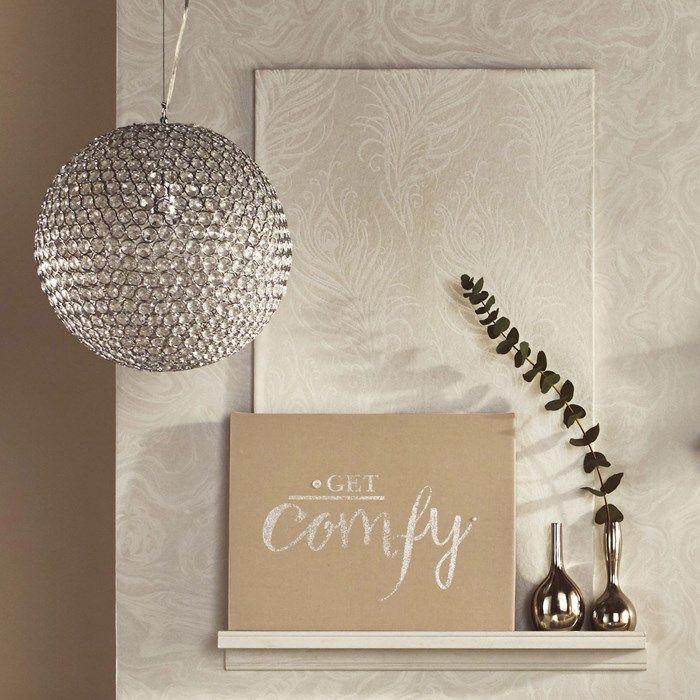 Delicate Silver Vase Home Accessories by Graham and Brown