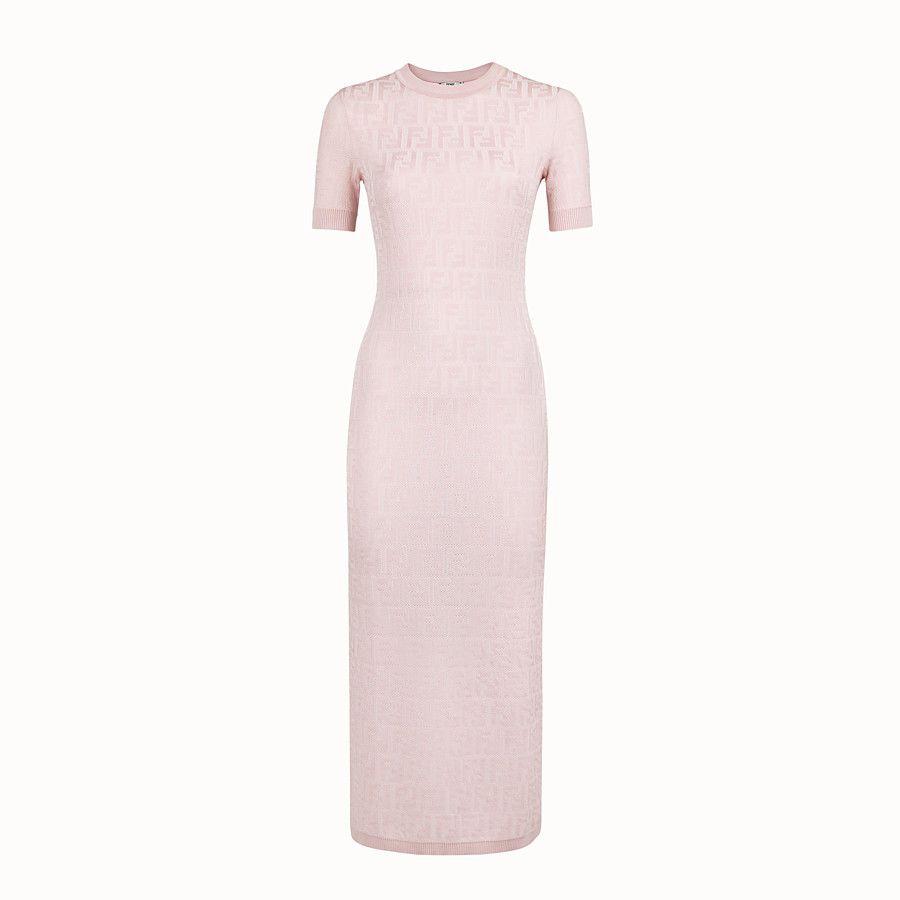 Pink Viscose And Cotton Dress Dress Fendi Fendi Dress Chenille Dress Luxury Outfits [ 900 x 900 Pixel ]