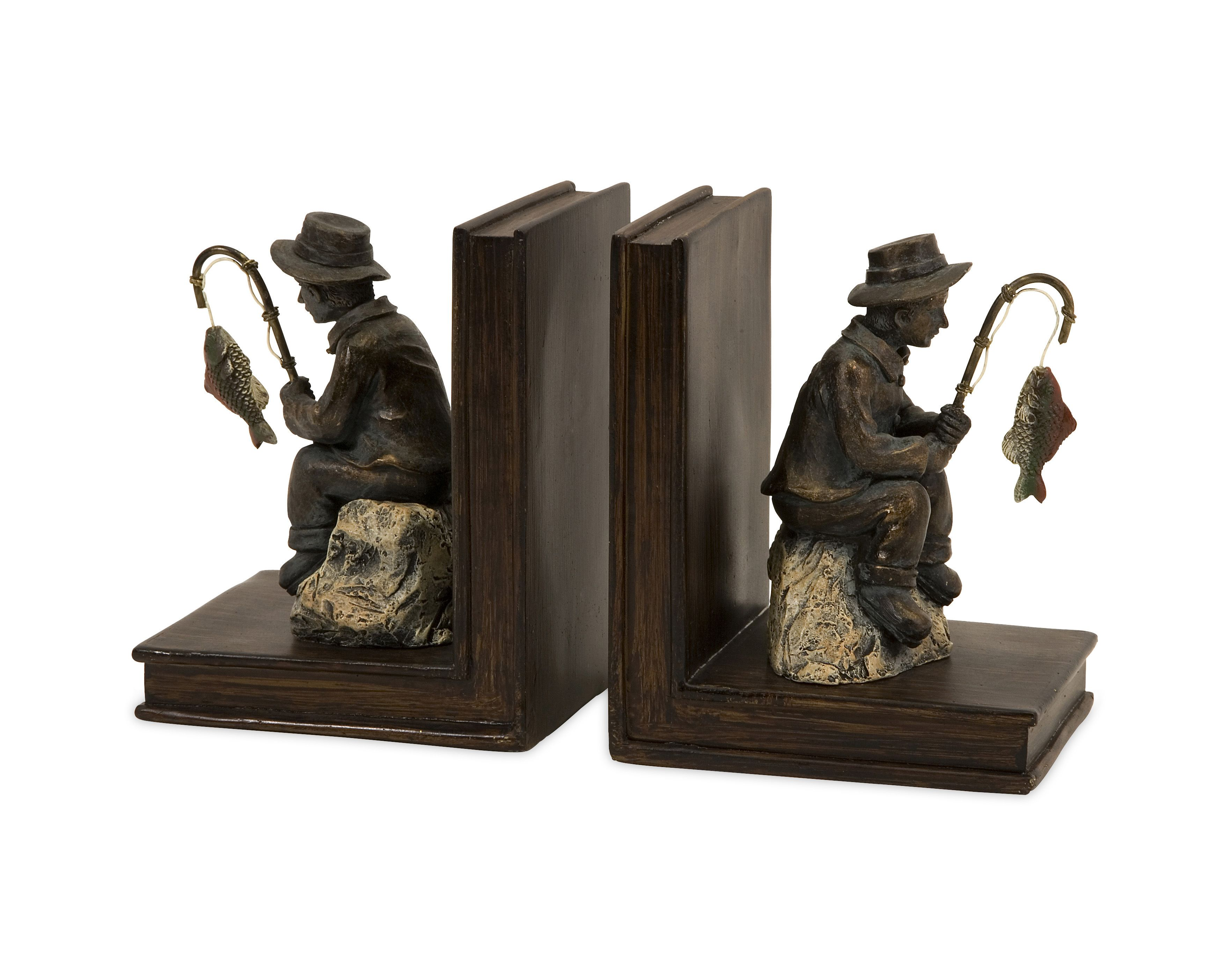 Fisherman Bookends By Oj Commerce With Images Bookends