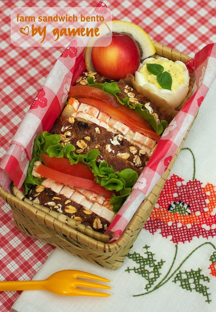 farm sandwich bento Sandwiches, Bento, Food inspiration