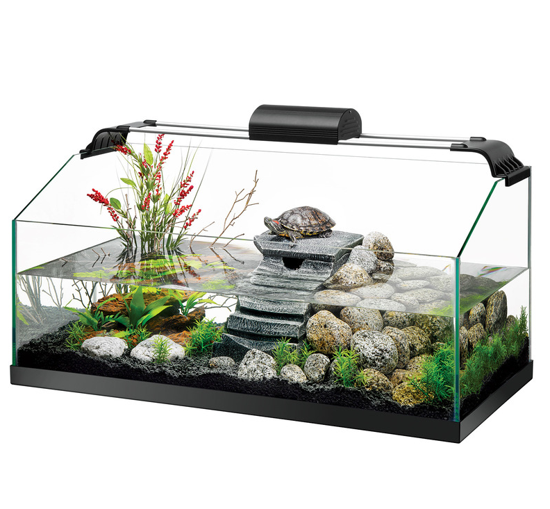 Zilla premium rimless aquatic turtle tank kit 20 gallon for 20 gallon fish tank kit
