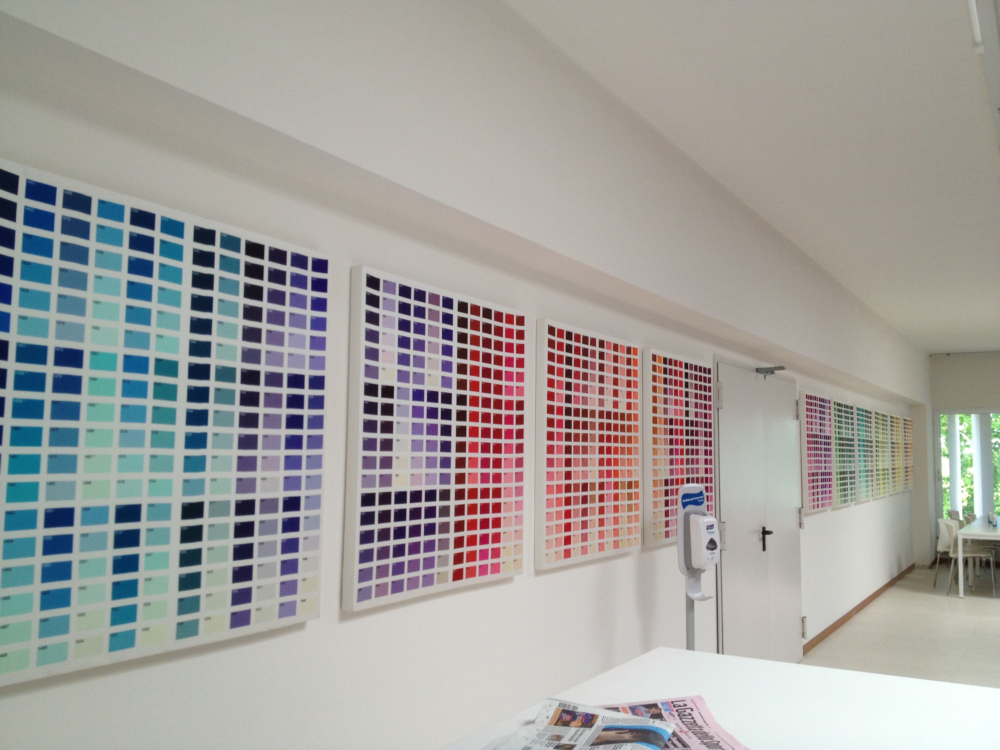 Rati Fabric Manufacturer, Italy Break Room, Pantone Swatches Made Into