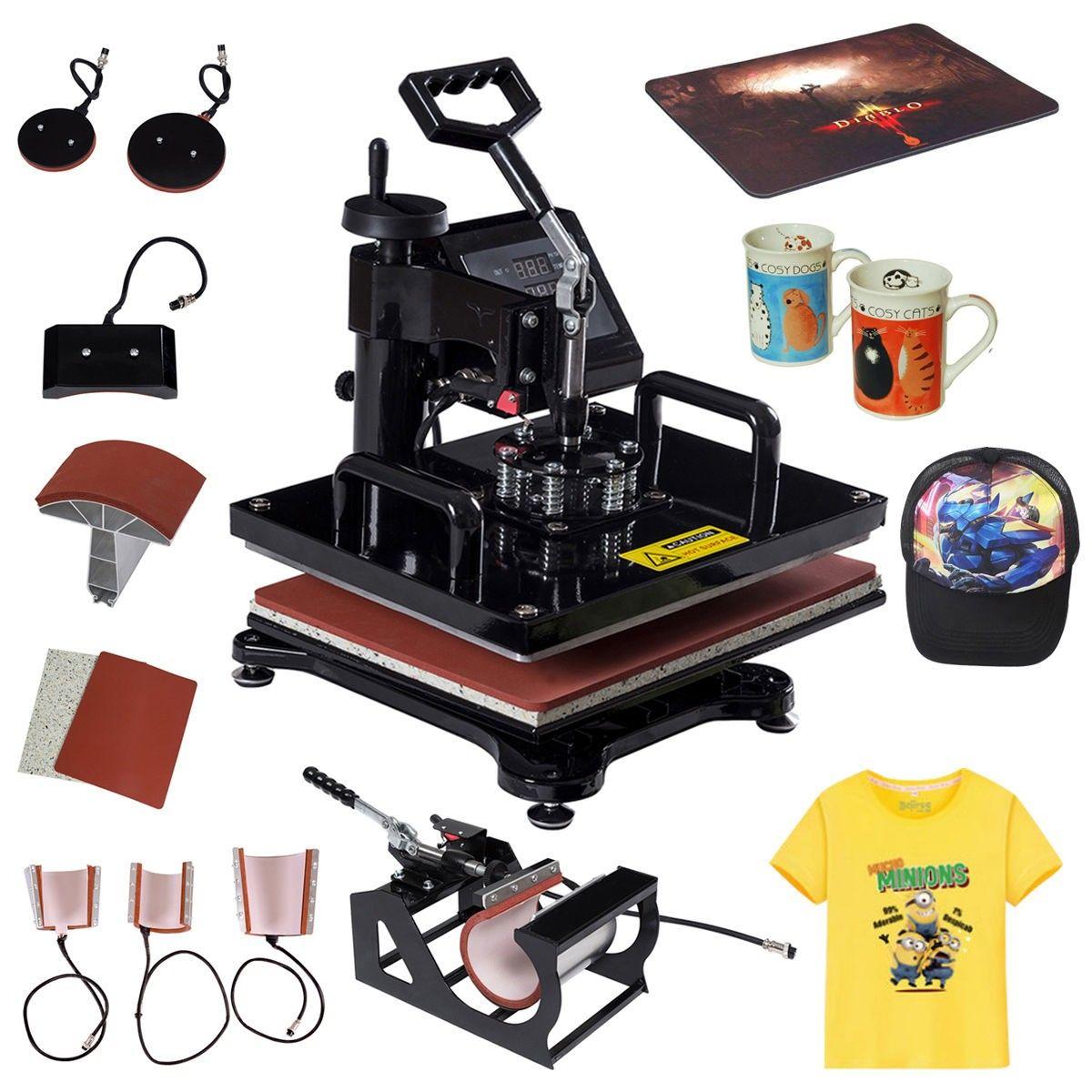 8 in 1 transfer digital heat press machine