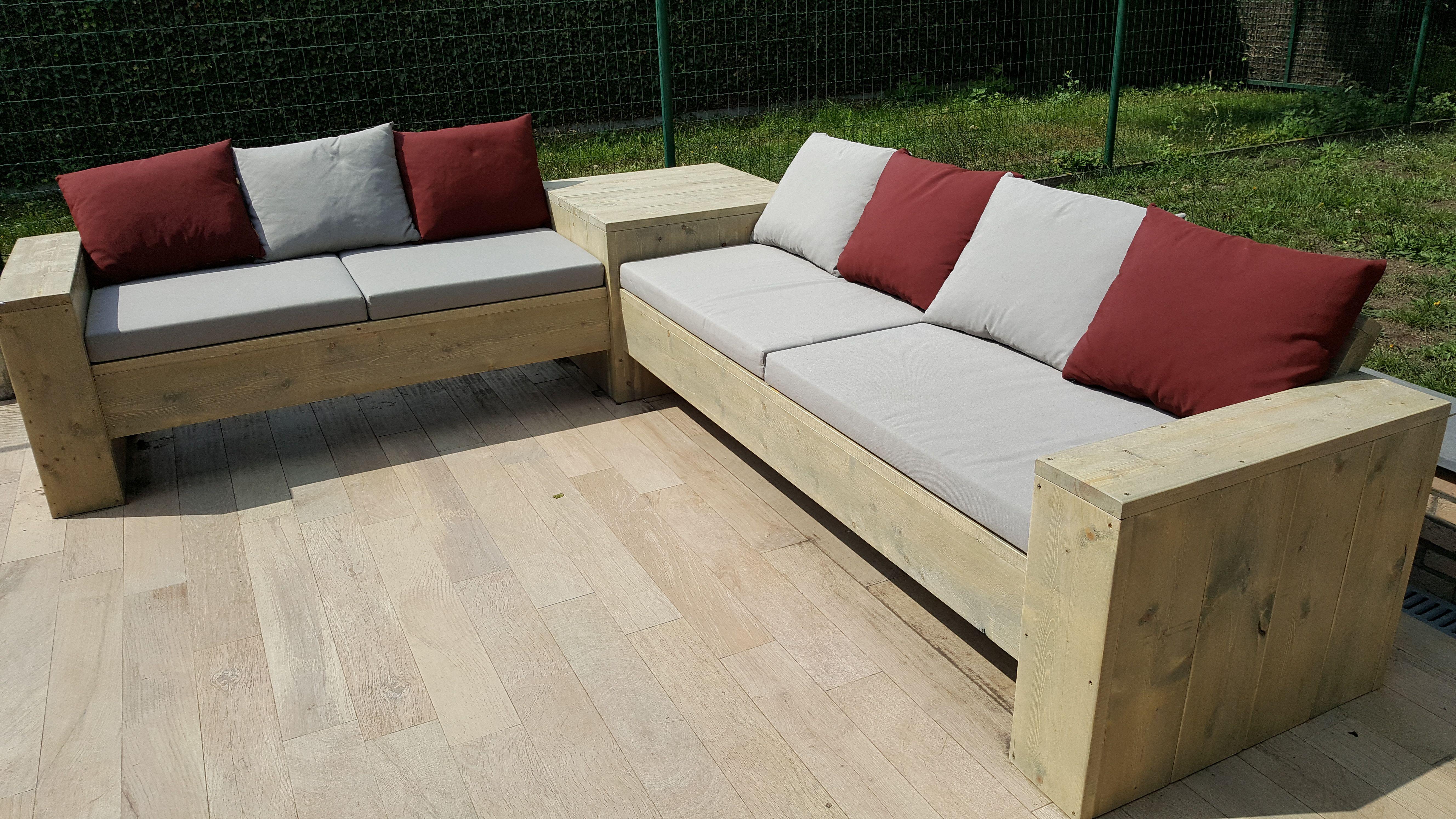 Kussens Loungebank Steigerhout : ≥ loungefauteuil van steigerhout met kussens tuinmeubelen