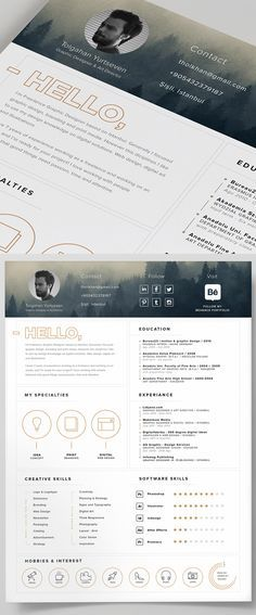 Free Resume Template And Icons Psd  Portfolio