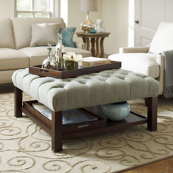 Upholstered Coffee Table Shelf