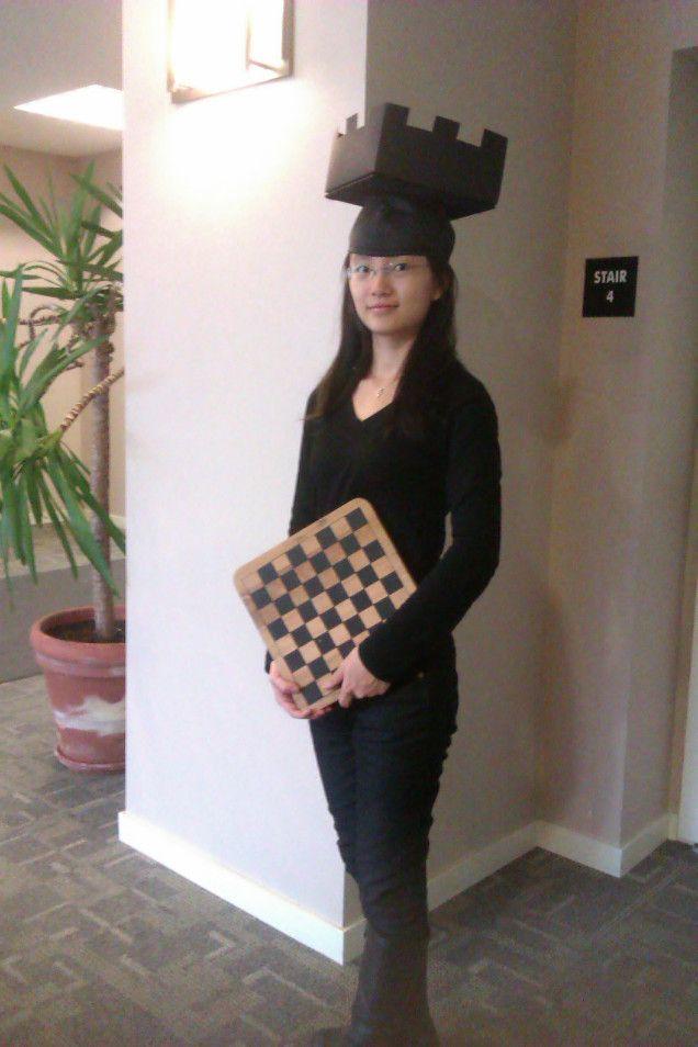 Chess headdress rook  sc 1 st  Pinterest & DIY u201cRook-ieu201d Costume Idea: Chess Piece | Pinterest | Rook Chess ...