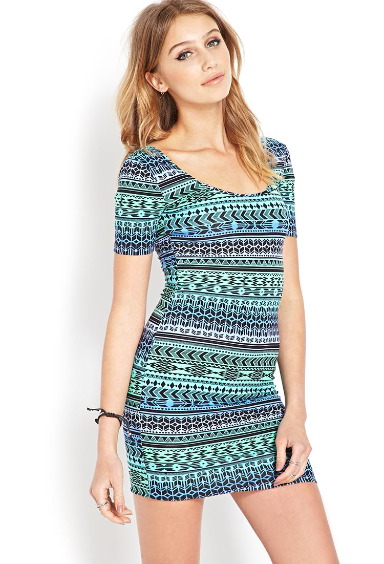 Tribal Print Ombre Dress | FOREVER21 #F21Spring #Ombre #MustHave