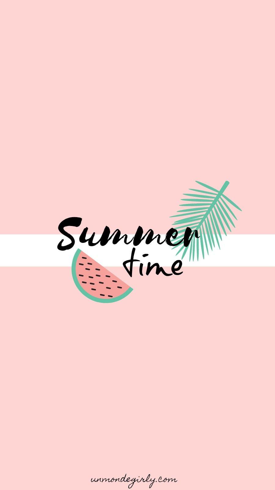 FOND ÉCRAN | SUMMER | Wallpaper iphone summer, Summer wallpaper, Cute summer wallpapers