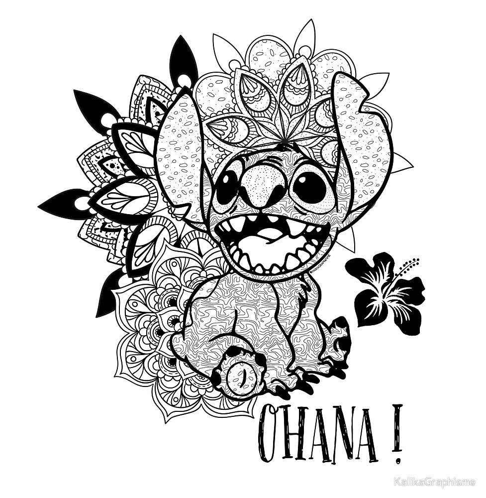 Resultado de imagen de mandalas stitch  Tatuajes disney, Dibujos