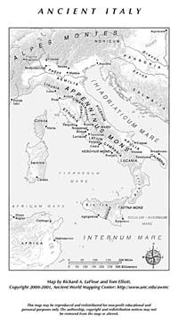Italy and Sicily | Ancient World Mapping Center | History/Geography ...