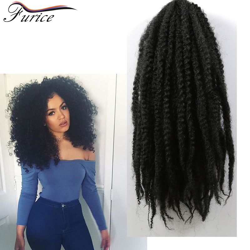 Aliexpress buy 18 inch afro kinky twist braid hair synthetic 18 inch afro kinky twist braid hair synthetic afro kinky curly marley hair afro textured weave hairstyles for braiding hair pmusecretfo Images