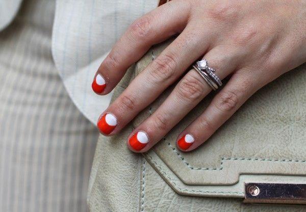New York Fashion Week Street Style Nail Art Half Moon Manicure