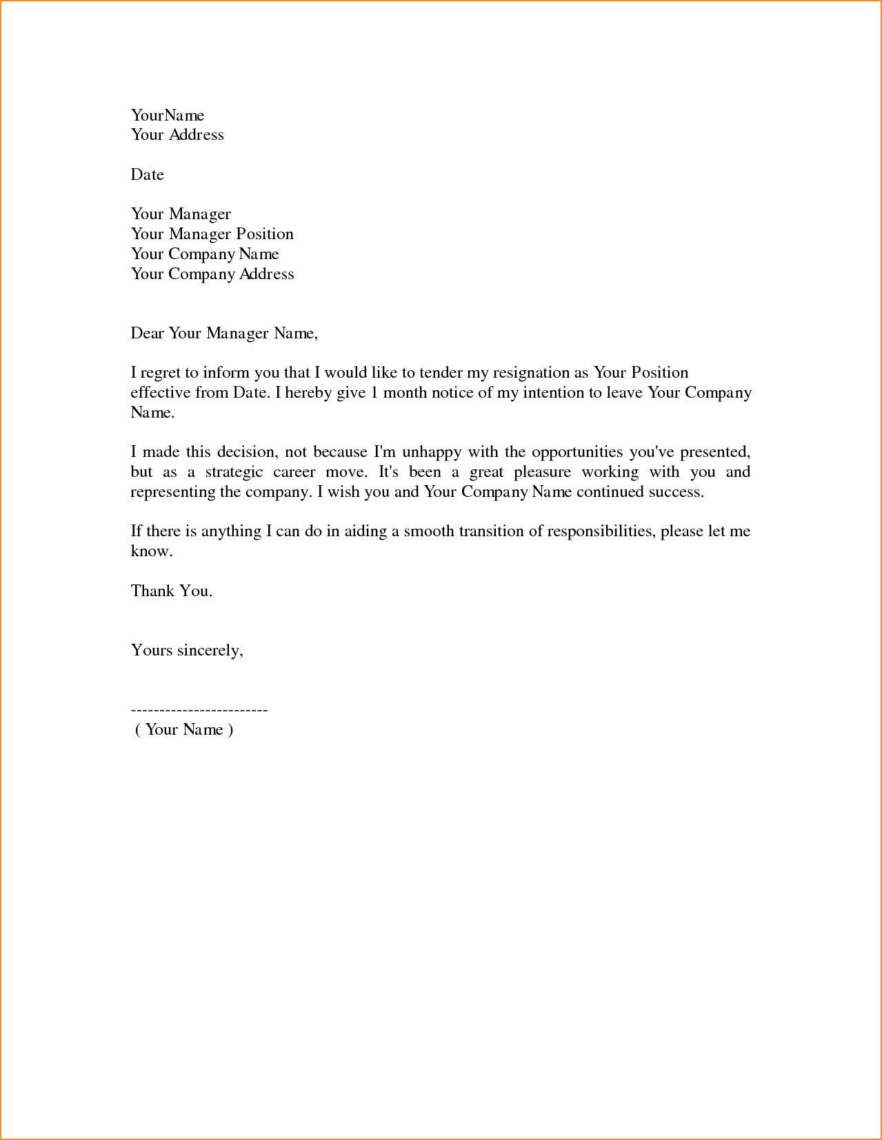 fresh resignation letter example download  resignation
