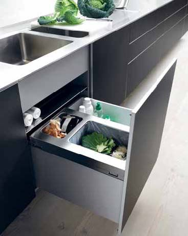 bulthaup drawer organization under sink trash recycle. Black Bedroom Furniture Sets. Home Design Ideas