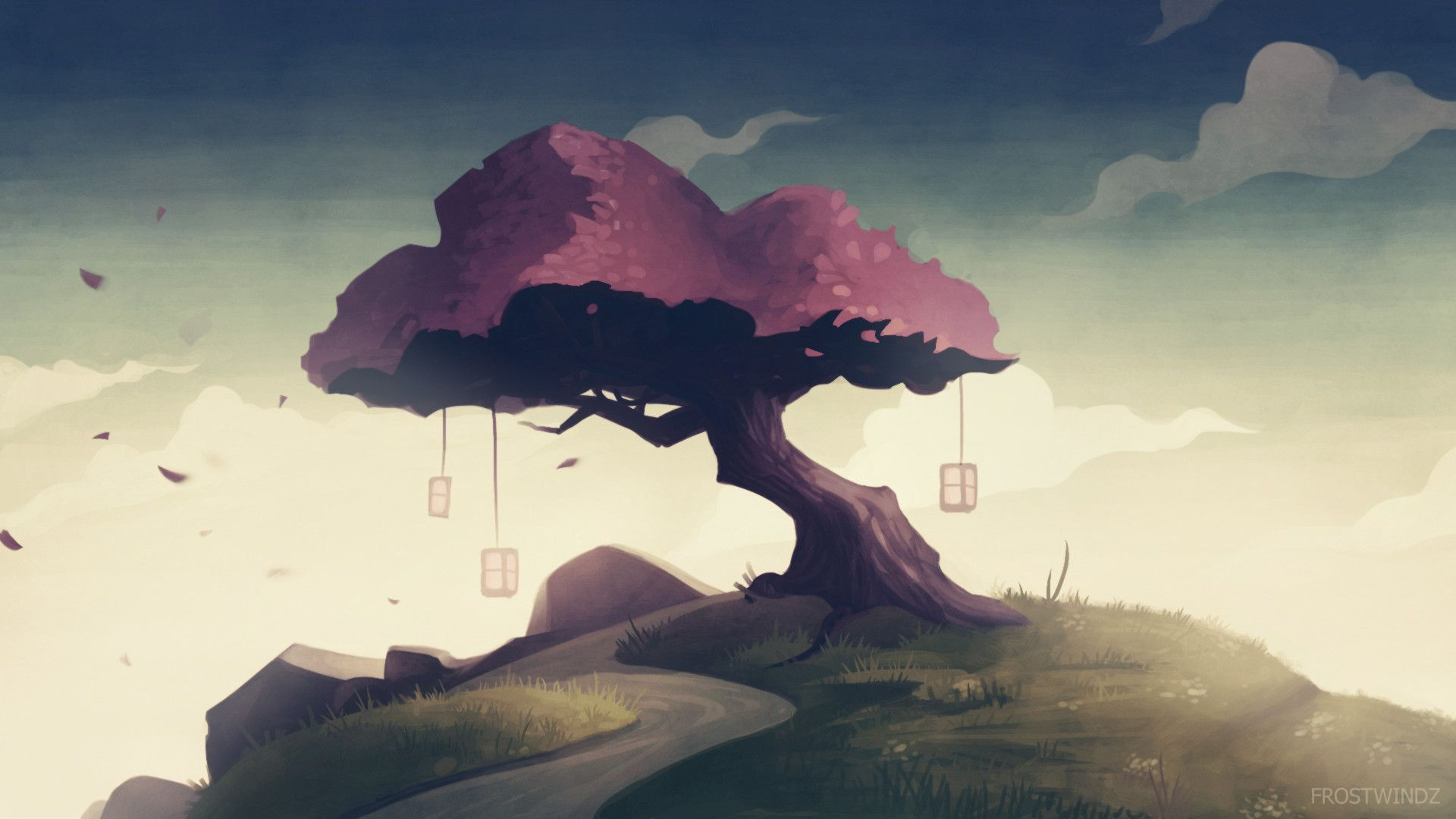 Sakura Tree 2 Radu Cosmin Alexandru Sakura Tree Tree Artwork Sakura