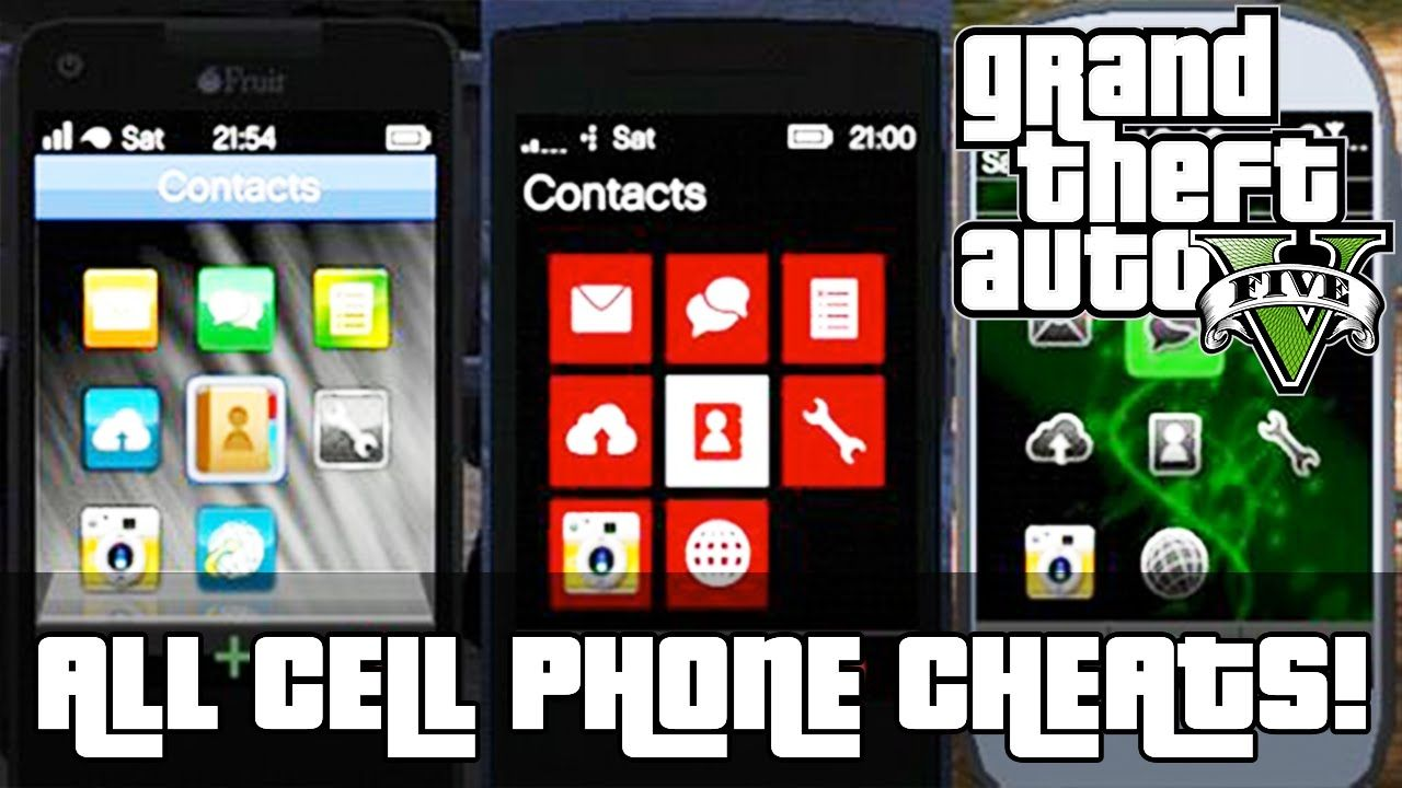 GTA 5 - All Cell Phone Cheats (PS4, Xbox One, PS3, Xbox 360, PC