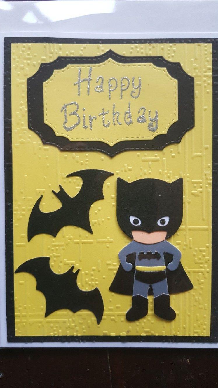 Handmade Batman Birthday Card Handmade Birthday Cards Kids Birthday Cards Birthday Cards
