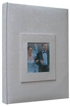 Kleer Vu Photo Memo Album With Window Wedding Moire Collection