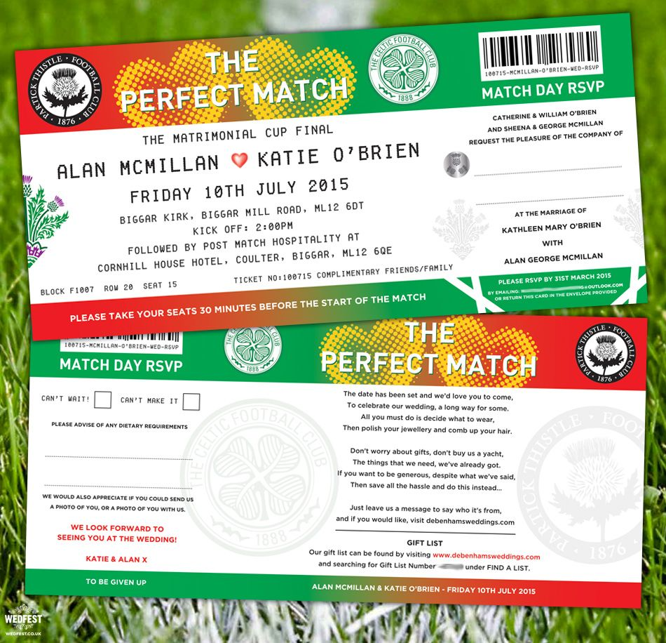 Football Wedding Invitations | Wedding Ideas