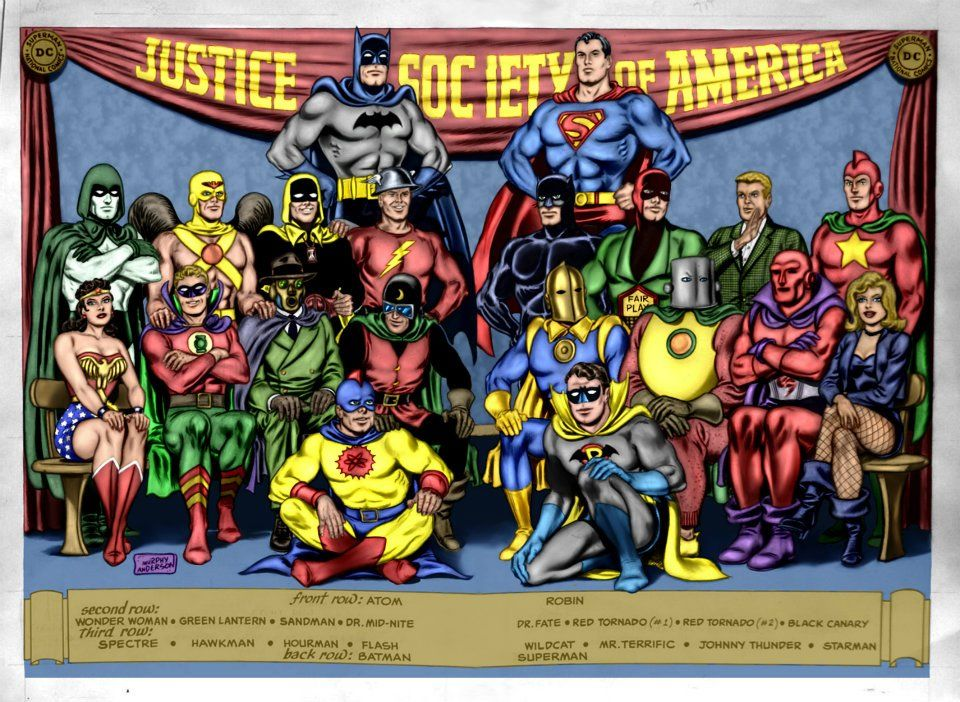 Justice Society Of America 9 7 11 By Ren1972 On Deviantart Justice Society Of America Comics Comic Books Art