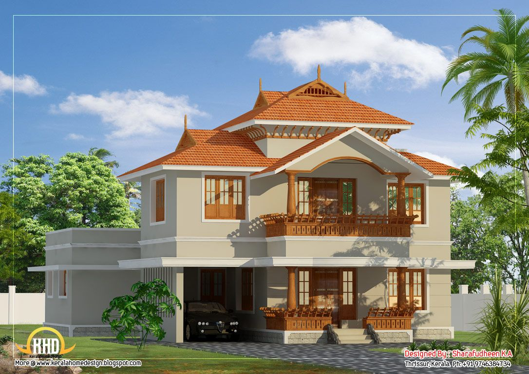 Beautiful Kerala Style Duplex Home Design Sq Ft Sq Ft Floor House Plan Sq Ft Kerala Home Best Small House Designs Kerala House Design Small House Design Kerala