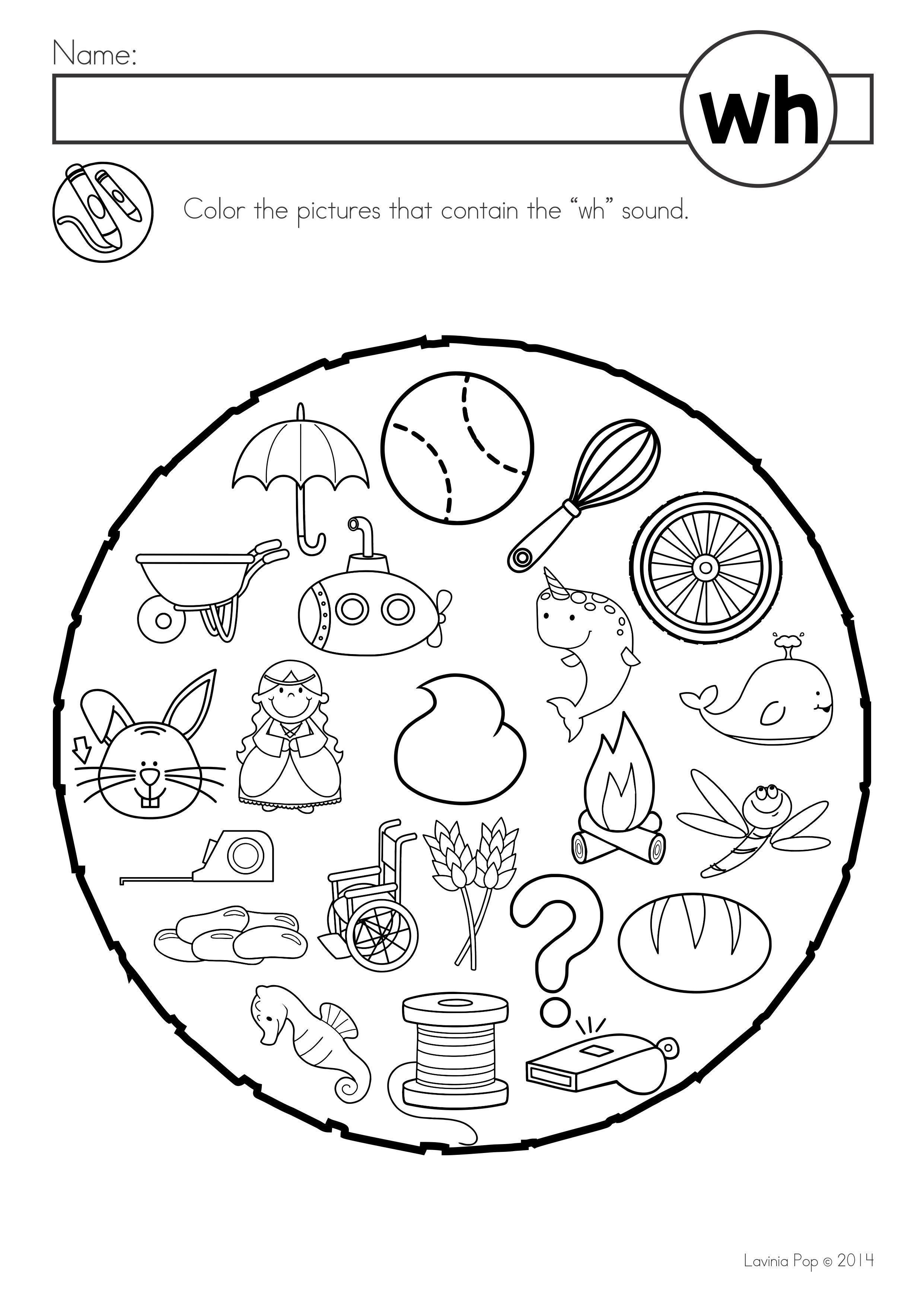 Free Digraph Wh Phonics Word Work Multiple Phonograms Color Kindergarten Worksheets Printable Kindergarten Addition Worksheets Free Kindergarten Worksheets [ 3508 x 2482 Pixel ]