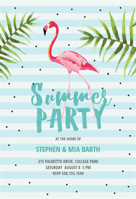 chill with flamingo free printable summer party invitation template greetings island. Black Bedroom Furniture Sets. Home Design Ideas
