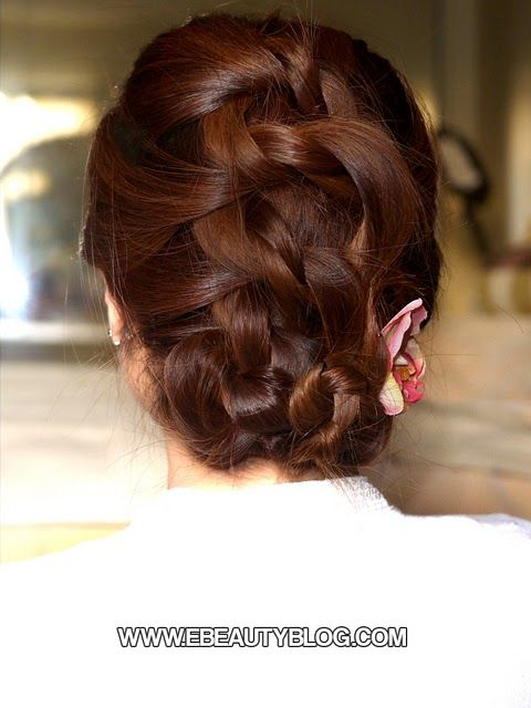 Easy Knotted Updo Hair Tutorial. It looks easy and might actually work for my hair.