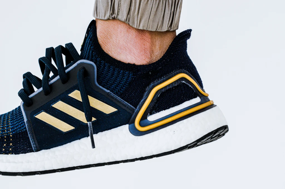 adidas ultra boost 19 blue gold