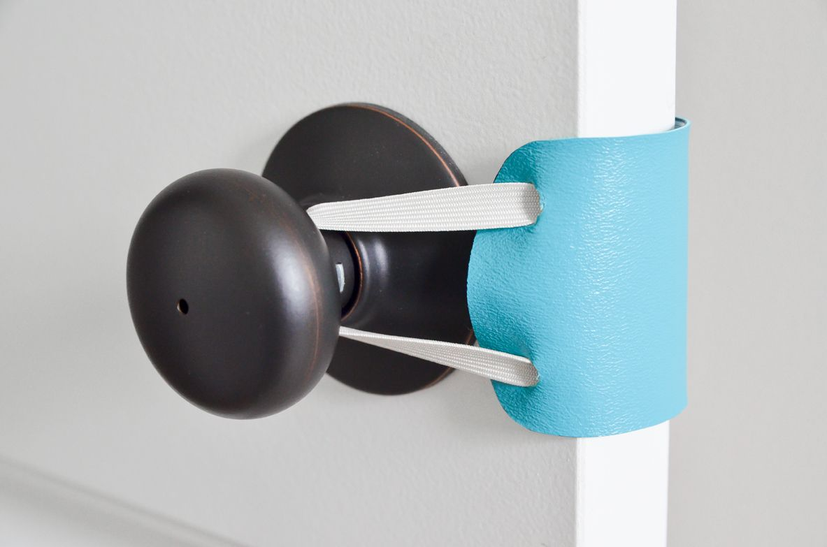 Diy No Sew Door Latch Cover Door Latch Latches Parenting Hacks