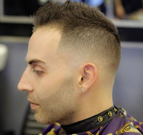 Haircuts For Balding Men Fade With Spiked Hair Haircut