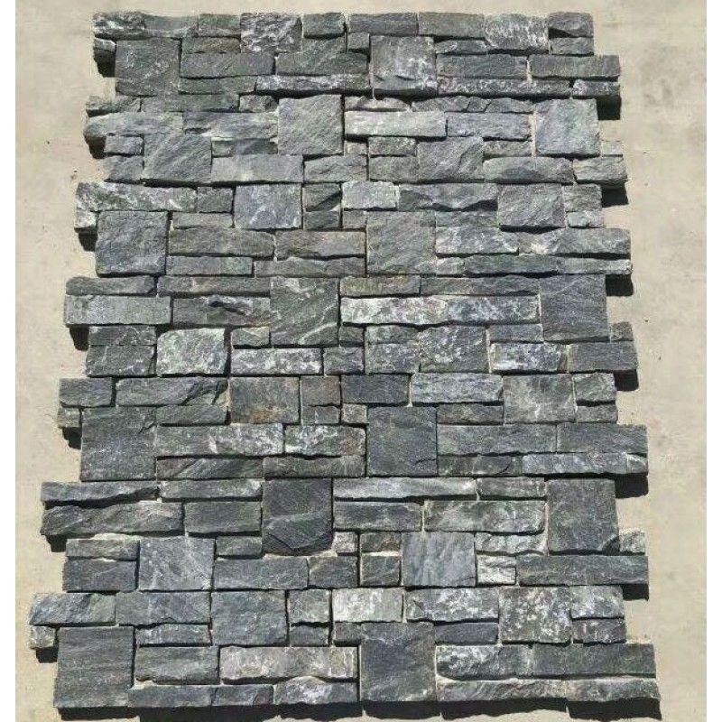 Exterior Wall Cladding Black Slate 15x60cm Foshan Dark Grey