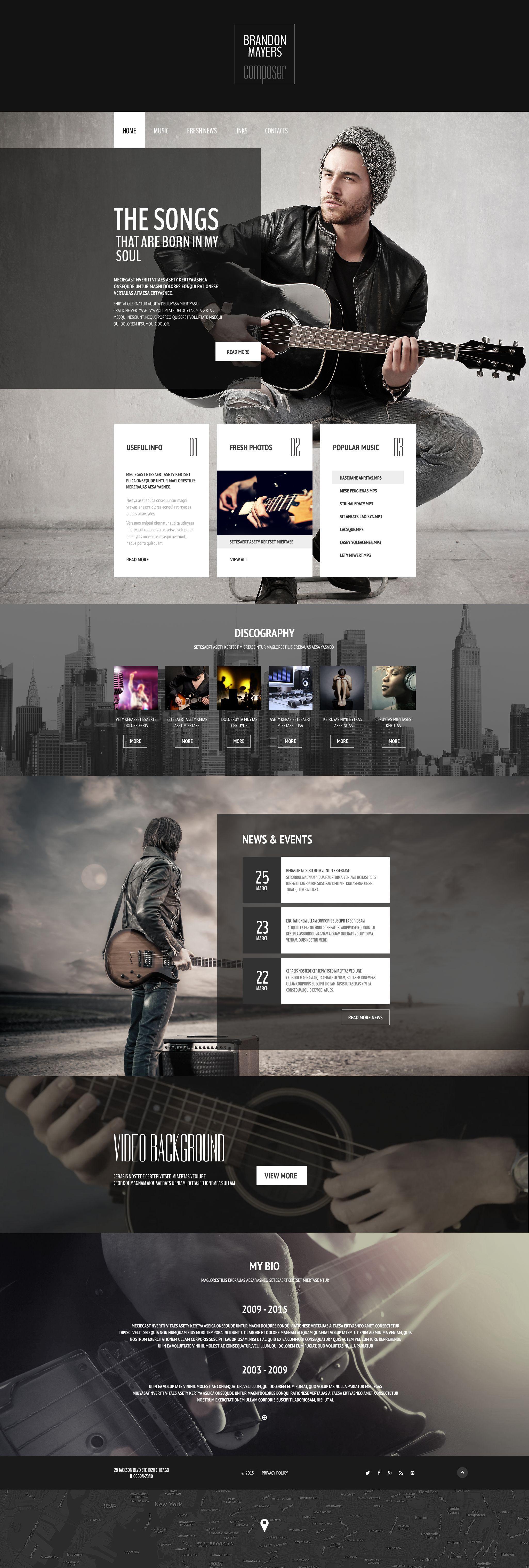 composer u0026 39 s portfolio website template