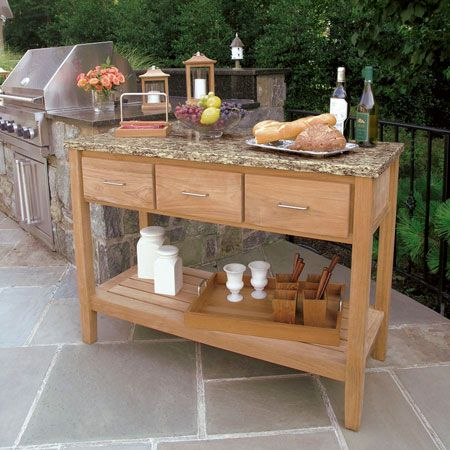 Charming Teak Outdoor Buffet   Berwick Outdoor Buffet Tables And Serving Furniture    Country Casual