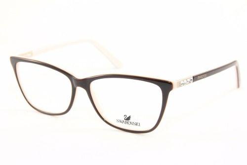 76111113dac99 Armação P  Óculos De Grau Feminino Masculino Swarovski I I - R  129 ...