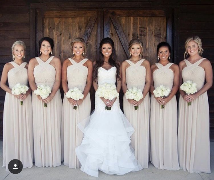 Walters bridesmaid dresses in the color