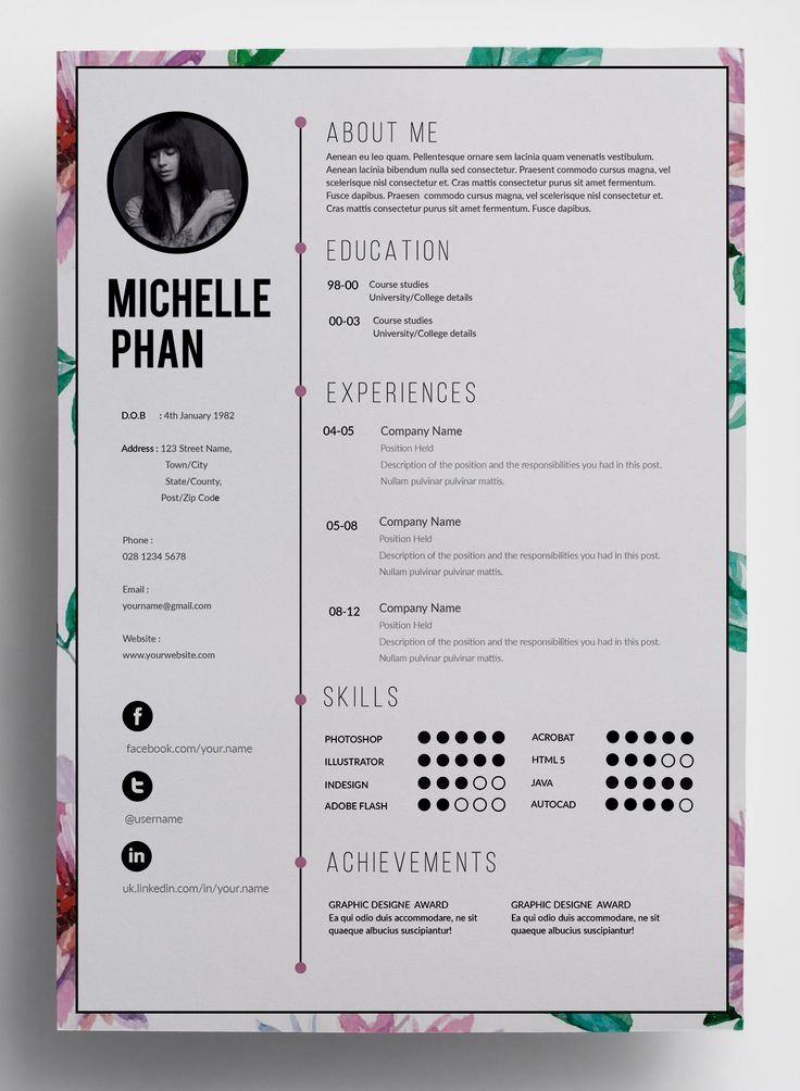What is a Resume? A Brief Overview Creatief cv ontwerp